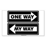 One Way My Way Rectangle Decal