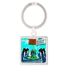 Sharks Square Keychain