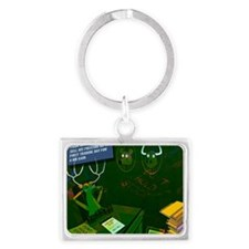 Stags Landscape Keychain