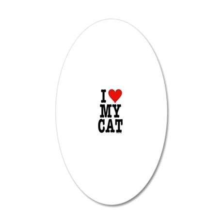 HeartCatJournal5.5x8.5 20x12 Oval Wall Decal