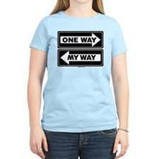 One Way My Way Women's Pink T-Shirt