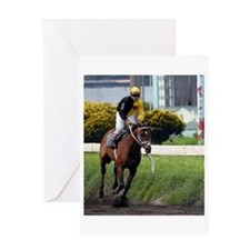 Thoroughbred Racehorse Greeting Cards