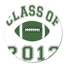 Class Of 2012 Football - Green Round Car Magnet