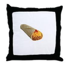 Burrito Sleeping Bag White Throw Pillow