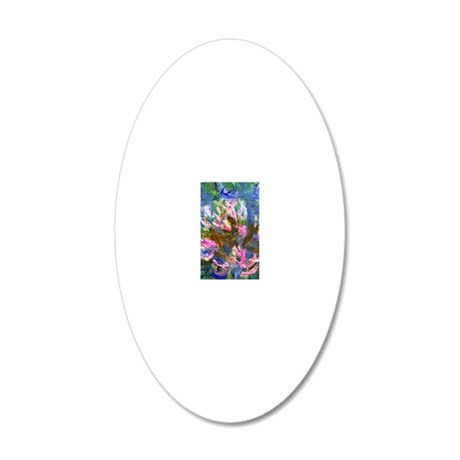441 Monet Detail 20x12 Oval Wall Decal