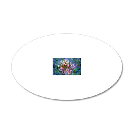 MW Monet Detail 20x12 Oval Wall Decal