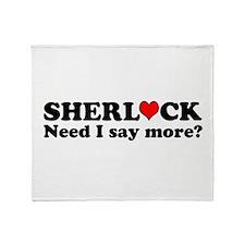 Loving Sherlock Throw Blanket
