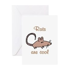 Rats are Cool Greeting Card