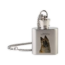 Belgian Tervuren Flask Necklace