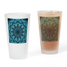 Iceblue bliss kaleidoscope Drinking Glass