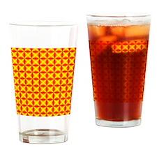 red-yellow-diamonds Drinking Glass