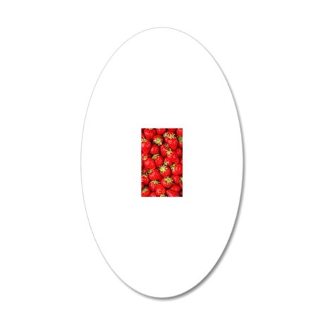 strawberries 20x12 Oval Wall Decal