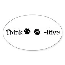 Think Positive 2 Oval Decal
