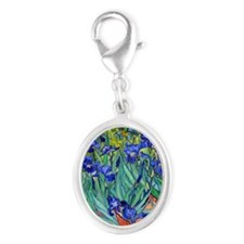 Pillow VG Irises89 Silver Oval Charm