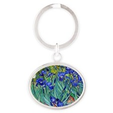 Pillow VG Irises89 Oval Keychain