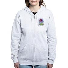 fractal flower Zip Hoodie