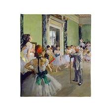 FF Degas DanceClass Throw Blanket