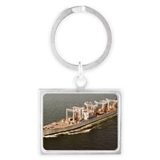 canisteo rectangle magnet Landscape Keychain
