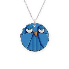 Sticker Aqua Owl aqua Necklace