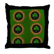 CELTIC-SHAMROCK-FLIP-FLOPS Throw Pillow