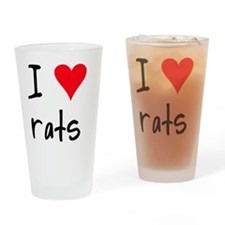 iheartrats Drinking Glass