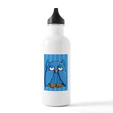 Puzzle Aqua Owl blue Water Bottle