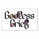 Godless Grief Rectangle Sticker