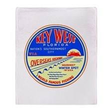 Key West, Florida Throw Blanket