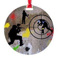 Paintball Mayhem Shower Curtain Ornament