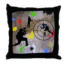 Paintball Mayhem Shower Curtain Throw Pillow