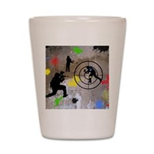 Paintball King Duvet Shot Glass