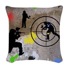Paintball King Duvet Woven Throw Pillow