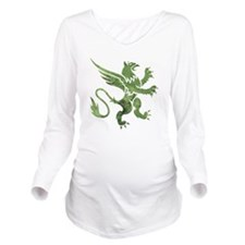 Green Gryphon Long Sleeve Maternity T-Shirt