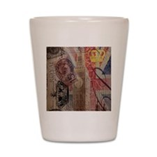 vintage British Flag London UK fashion Shot Glass