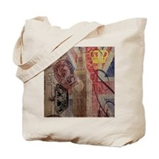 vintage British Flag London UK fashion Tote Bag