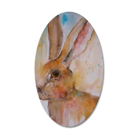 Solo Hare 35x21 Oval Wall Decal