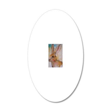 Solo Hare 20x12 Oval Wall Decal
