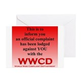 Official WWCD Complaint Cards (Pk of 10)