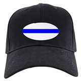 Black Thin Blue Line Cap