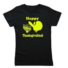 Happy Thanksukkah 3 yellow Girl's Tee