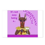 Red Doberman Bitch Postcards (Package of 8)
