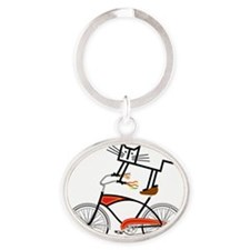 Bicycle Oval Keychain
