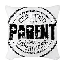 100 Parent blk Woven Throw Pillow
