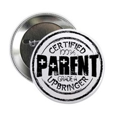 "100 Parent blk 2.25"" Button"