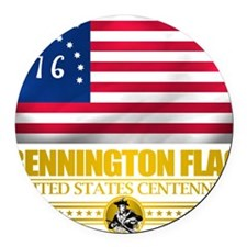 Bennington (Flag 10)2 Round Car Magnet