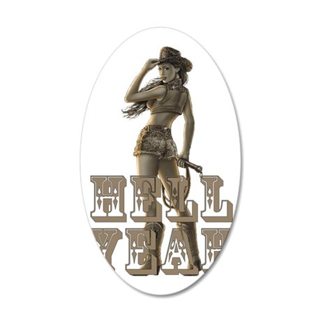 Hell Yeah 35x21 Oval Wall Decal