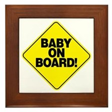 Baby on board! Framed Tile