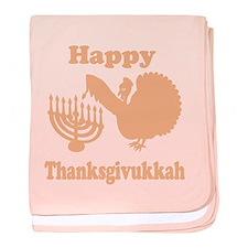 Happy Thanksukkah 3 peach baby blanket