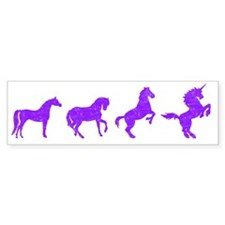 unicorn evolution Car Sticker