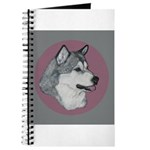 Gray Alaskan Malamute Journal